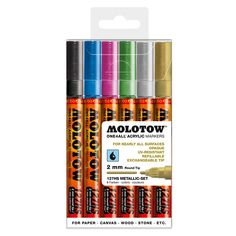 Molotow One4all 127 HS (2mm) 6er Metallic Marker Set