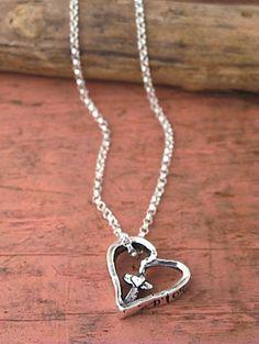 Bold Faith necklace.  #jewelry #heart #necklace #cowgirljewlery #handmadejewelry  #romanticjewelry #inspiration #necklaces  islandcowgirl.com  http://www.facebook.com/IslandCowgirlJewelry