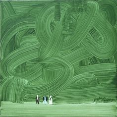 Wilhelm Sasnal. Shoah (forest), 2003. Oil on canvas.   and here