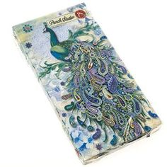 Your guest bath can be pretty and practical with these Peacock Guest Towels. Each set of 16 includes three-ply single-use hand towels decorated with a colorful peacock illustration. Find them at Cracker Barrel Old Country Store.