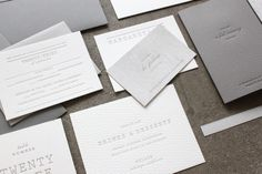 love how understated these are | Oh So Beautiful Paper: Margaret + Patrick's Understated Letterpress Wedding Invitations