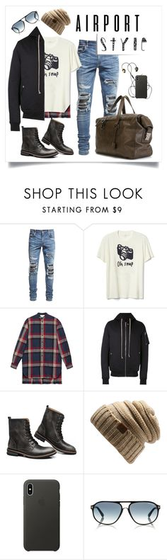 """""""Flying in Style"""" by georgeismail ❤ liked on Polyvore featuring AMIRI, Gap, Gucci, Rick Owens, Apple, Post-It, Assouline Publishing, men's fashion, menswear and contestentry"""