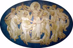 John Singer Sargent, Apollo and the Muses, detail of the murals of the Boston Museum of Fine Arts