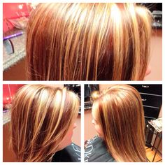 3 color blonde and brown hair foil saras hair creations red blonde and brown hair multi dimensional color multi dimensional color 3 colors pmusecretfo Choice Image