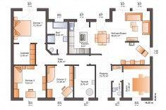 Grundriss Erdgeschoss Home Design Plans, Floor Plans, House Design, How To Plan, Diy, House Construction Plan, Hip Roof, Ground Floor, House Design Plans