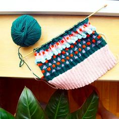 Colourful knitting progress for Mil Smith beanie Knits, Beanie, Photo And Video, Knitting, Inspiration, Color, Instagram, Biblical Inspiration, Tricot