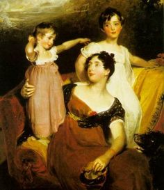 Lady Acland and her sons