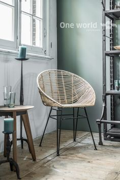 One World Interiors - Jane bucket chair natural - Picture: Paulina Arcklin