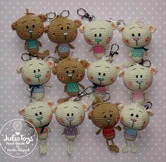 Free crochet pattern Little Teddy Bear by Julio Toys http://www.crochetpattern.org/2016/05/little-teddy-bear.html