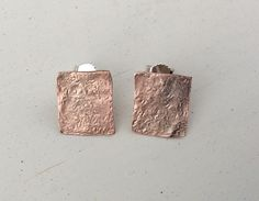 Kobber og sølv ørestikker