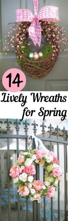 Spring Wreaths, Spring Decor, DIY Spring Decor, How to Decorate for Spring, Spring Decorations, DIY Spring Wreaths, Homemade Wreaths for Spring, Spring Decor, Decorating for Spring, Popular Pin