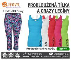 ✔️Legíny Crazy a prodloužená tílka Adél★ ★ Pajama Pants, Pajamas, Fashion, Pjs, Moda, La Mode, Fasion, Fashion Models, Pajama