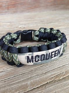 CUSTOM Paracord Bracelet with Name Tape / Army / Air Force / Marines