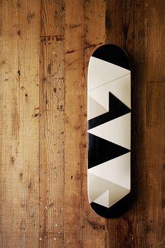 Masu · Japan · Skate · Decks · White · Black · Triangles · Shapes · Skateboard
