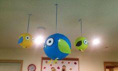 Owl lanterns for baby shower