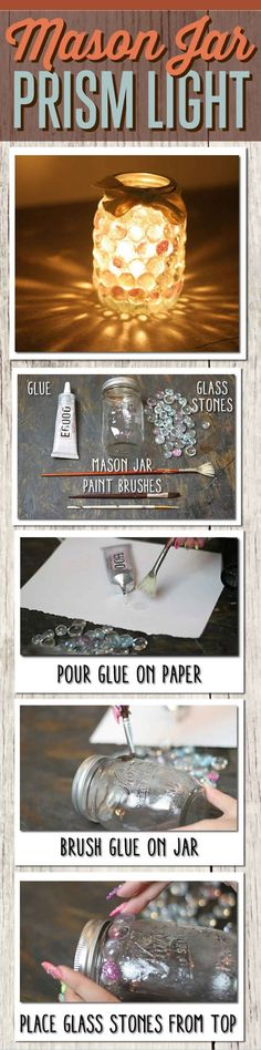 DIY Mason Jar Crafts ~ great Holiday and/or teacher gifts <3