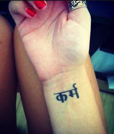 Karma in Sanskrit