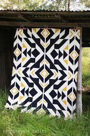 Nightingale Quilts: NEW PATTERN: Bravo Indigo Quilt