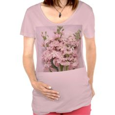 pale pink blossoms maternity t-shirt #PrettyMaternityShirt, #FlowersMaternityShirt, #GirlyMaternityShirt