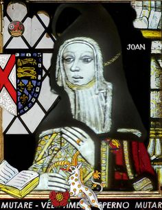 Joan Beaufort, Countess of Westmoreland. Second wife of Ralph de Neville, 1st Earl of Westmoreland. Mother of Anne and Cecily Neville along with 12 others. Joan was the legitimate daughter of John of Gaunt and Katherine Swynford. She was also the Grandmother of Richard Neville 'the Kingmaker', 16th Earl of Warwick.