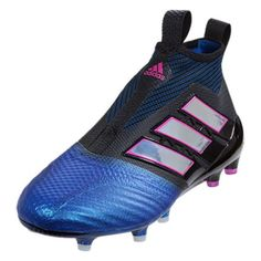 best website e28c6 5719f adidas Ace 17+ Purecontrol FG (Black Ftwr White Blue) Kids Soccer