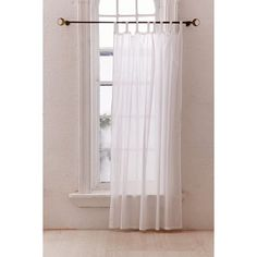 Sheer Voile Window Curtain ($29) ❤ liked on Polyvore featuring home, home decor, window treatments, curtains, sheer curtains, sheer window panels, voile window panels, sheer tab curtains and sheer drapery panels