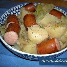 Crock Pot Cabbage, Potatoes & Smoked Sausage