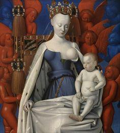 """Art Pics Channel on Twitter: """"JEAN FOUQUET LA VIRGEN CON EL NIÑO Y ÁNGELES (DÍPTICO DE MELUN) h. 1452-1458"""