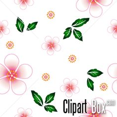 CLIPART FLOWERS SEAMLESS BACKGROUND