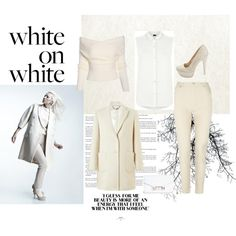 white by malirybka1989 on Polyvore featuring Armani Jeans, Jigsaw, Whistles, Charlotte Russe and Proenza Schouler