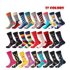 New Cotton Letter Print Socks Mixed Colors Single Size Casual Ankle Support