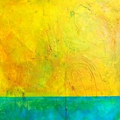 SUMMERTIME, acrylic on canvas, 80 cm, abstract landscape art by Eva Tikova Abstract Landscape, Abstract Art, Summertime, Canvas, Painting, Tela, Painting Art, Canvases, Paintings