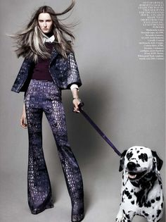 "The Terrier and Lobster: ""Best in Show"": Dogs and Models by Daniel Jackson for UK Vogue"