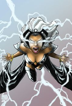 Photo of Storm for fans of Marvel Superheroines. Comic Book Superheroes, Comic Book Characters, Marvel Characters, Comic Character, Comic Books Art, Comic Art, Storm Xmen, Storm Marvel, Marvel Dc