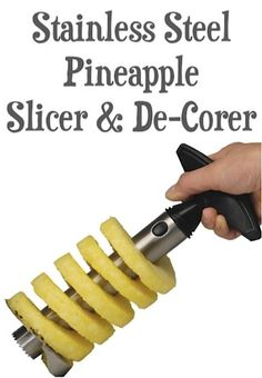 Stainless Steel Pineapple Slicer and De-Corer Sale: $4.27 Shipped!! {one of my favorite kitchen tools!} #pineapples