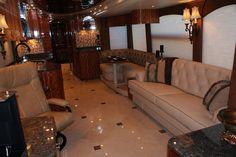 Elegant Custom Interior Ideas for RV - Go Travels Plan Motorhome Interior, Rv Interior, Interior Ideas, Luxury Rv, Luxury Homes, Rv Redo, Recording Studio Home, Cool Vans, Rv Trailers