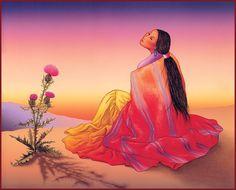 RC Gorman - Navajo Dawn