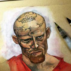 描く練習、刺青、肖像画