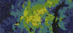 Explore area based on zip code for median household income and college degree. Washington Post: A World Apart