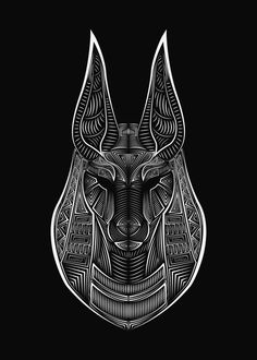 ANUBIS, an art print by Volodymyr Horbovyi Ancient Egyptian Deities, Ancient Egypt Art, Egyptian Symbols, Ancient Symbols, Egyptian Art, Egyptian Mythology, Egypt Tattoo Design, Tattoo Design Drawings, Egypt Design