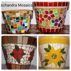 Mosaic Bottles, Mosaic Pots, Planter Pots, Mosaics, Vases, Hand Crafts, Mosaic Art, Flowers, Mosaic