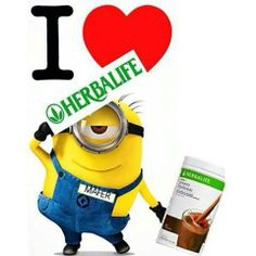 I love Herbalife Minion with Shake    www.GoHerbalife.com/ComeGetHealthy  www.ComeGetHealthy.com