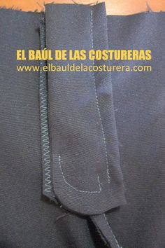 Como coser un cierre a un pantalón How To Make Clothes, Love Sewing, Learn To Sew, Sewing Tutorials, Zipper, Stitch, Crochet, Tips, Pattern