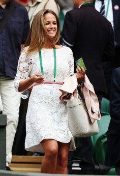 Day 1 Wimbledon. Andy's girlfriend Kim Sears. 23/6/14