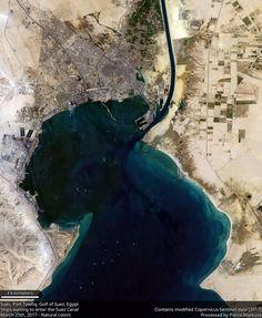 Suez, Port Tawfiq  Taken by astronaut Ignazio Magnani