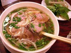 Beef Pho noodle soup- I so want to pull this off. I love Pho! Easy Vietnamese Recipes, Vietnamese Cuisine, Asian Recipes, Beef Recipes, Soup Recipes, Healthy Recipes, Asian Foods, Ethnic Recipes, Pho Noodle Soup