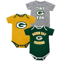 Infant Newborn Baby Boys NFL Green Bay Packers GB Bodysuit Creeper 24 MONTHS