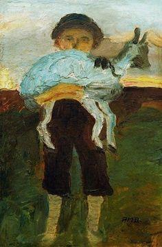 urgetocreate: Paula Modersohn-Becker, Boy with Goat, 1902