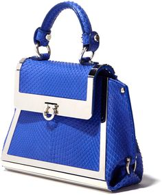 Ferragamo Mini Sofia in Bright Blue - Lyst