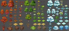 Resultado de imagen de game assets tree isometric